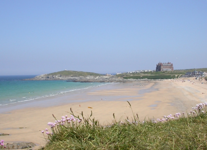 Fistral beach towards the Headland hotel